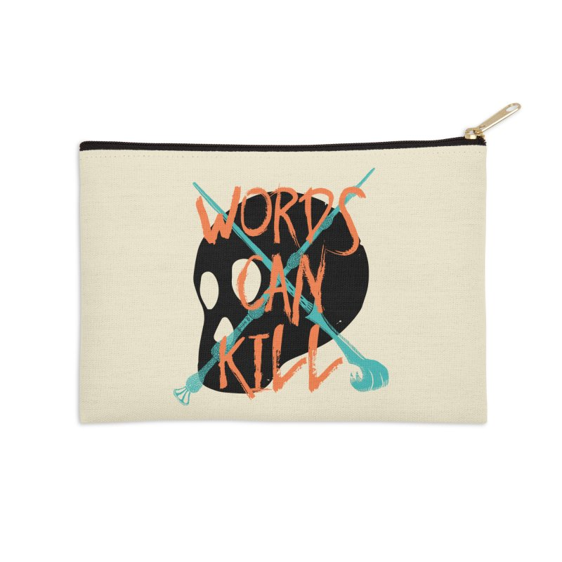 Words Can Kill Accessories Zip Pouch by Steger