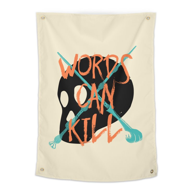 Words Can Kill Home Tapestry by Steger