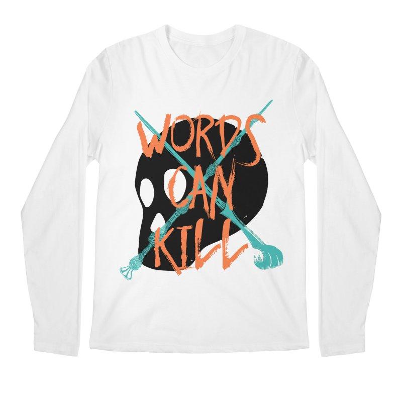 Words Can Kill Men's Regular Longsleeve T-Shirt by Steger