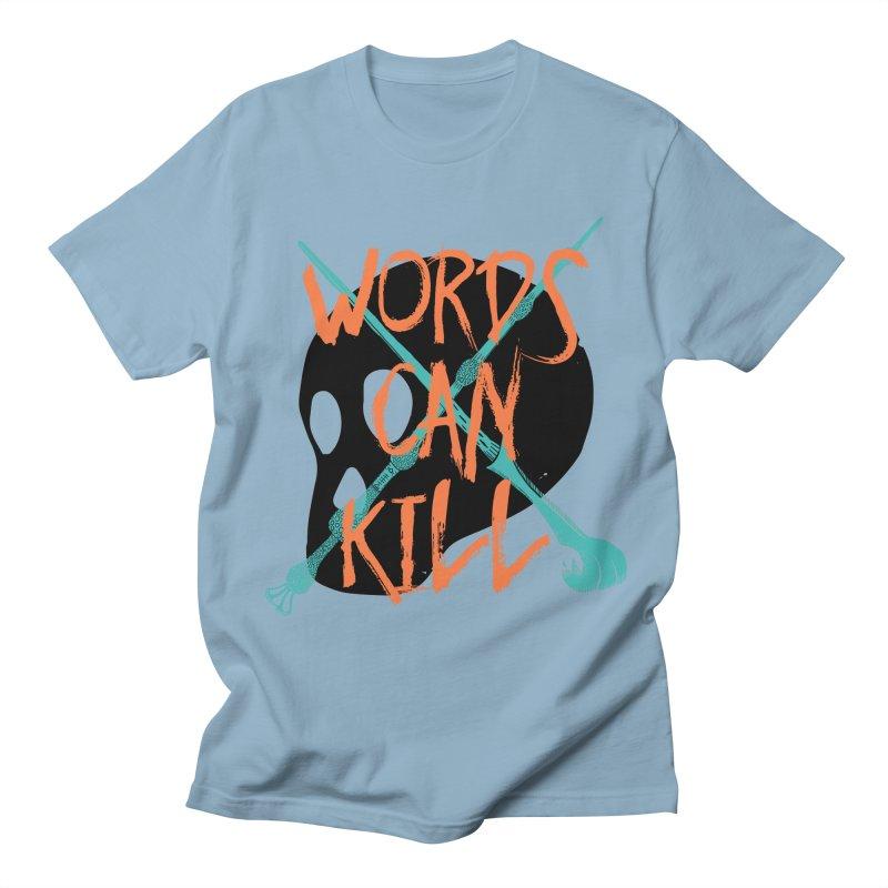 Words Can Kill Men's Regular T-Shirt by Steger