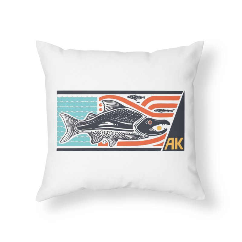 Alaska Home Throw Pillow by Steger