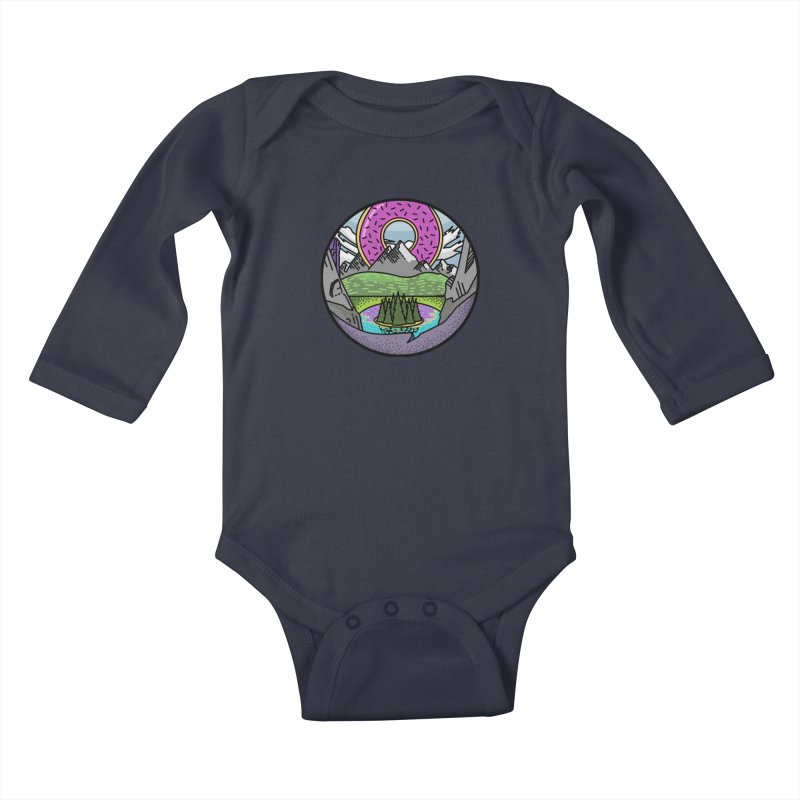 Donut National Park Kids Baby Longsleeve Bodysuit by Steger