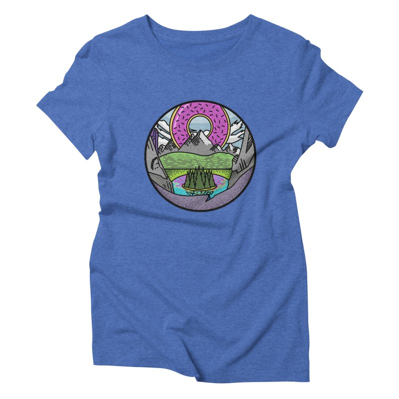 Donut National Park Women's Triblend T-shirt by Steger