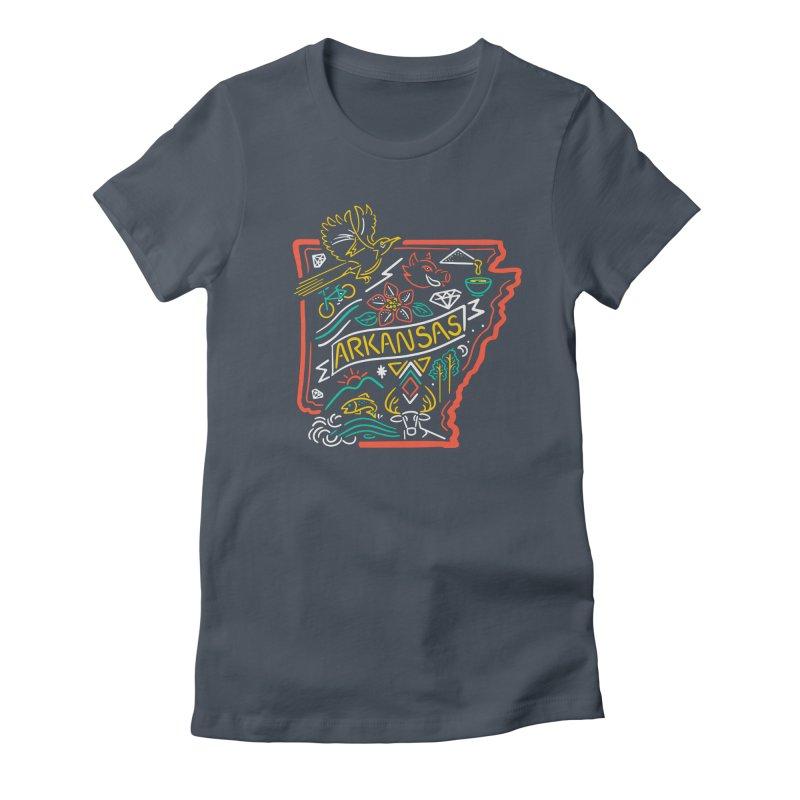 Arkansas Neon Women's T-Shirt by Steger