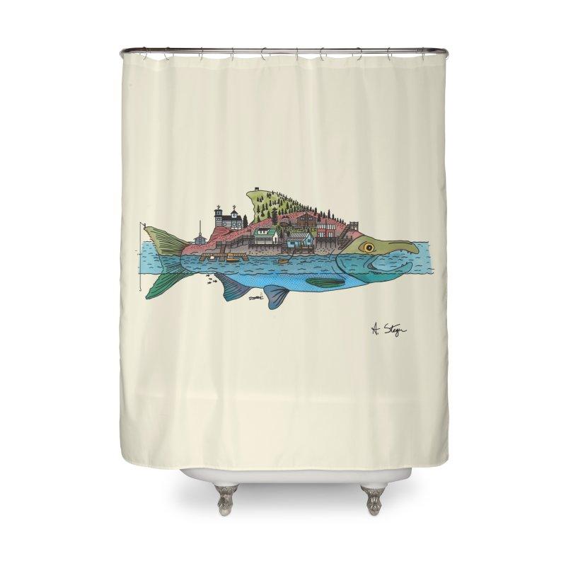 Seldovia Home Shower Curtain by Steger