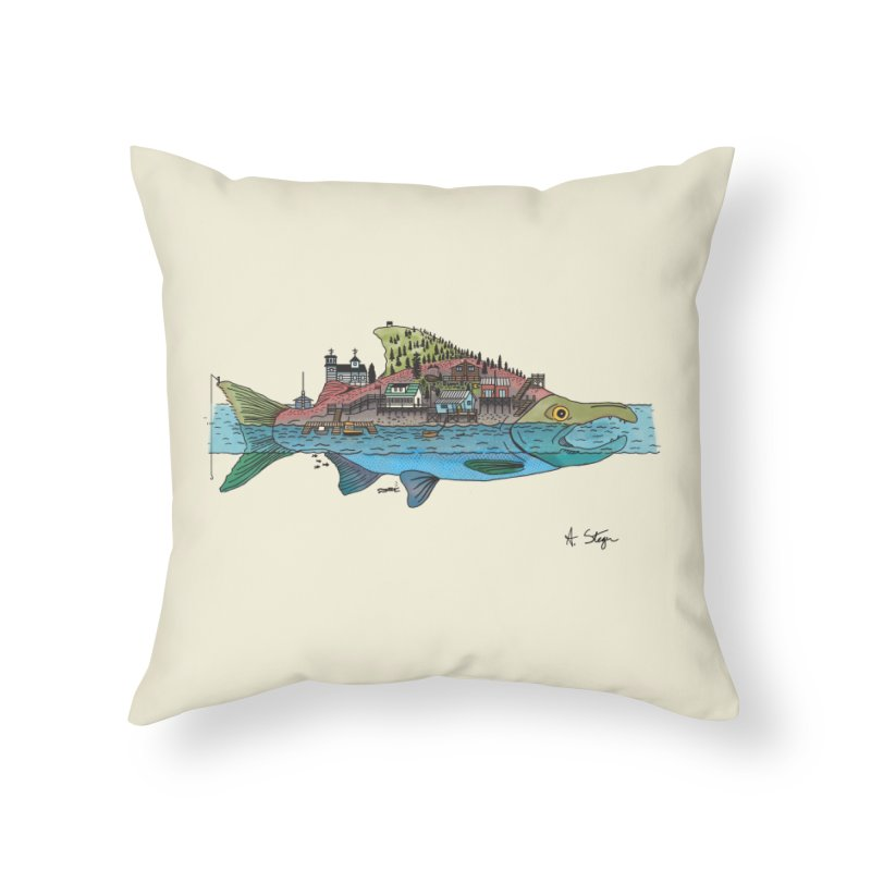 Seldovia Home Throw Pillow by Steger
