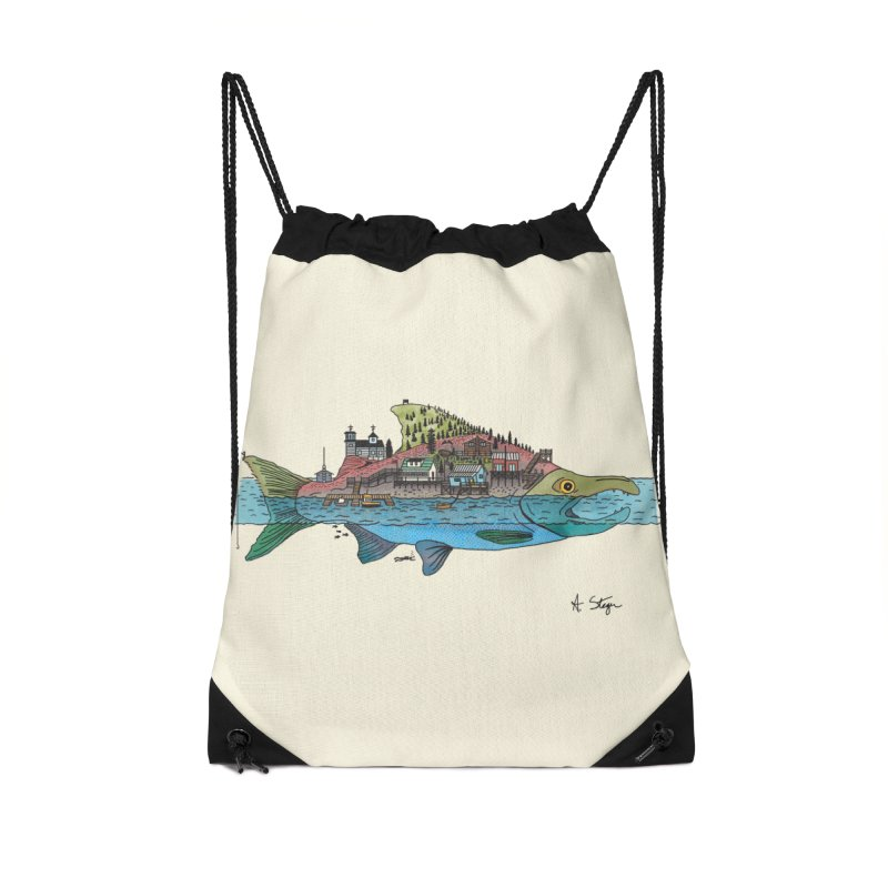 Seldovia Accessories Drawstring Bag Bag by Steger
