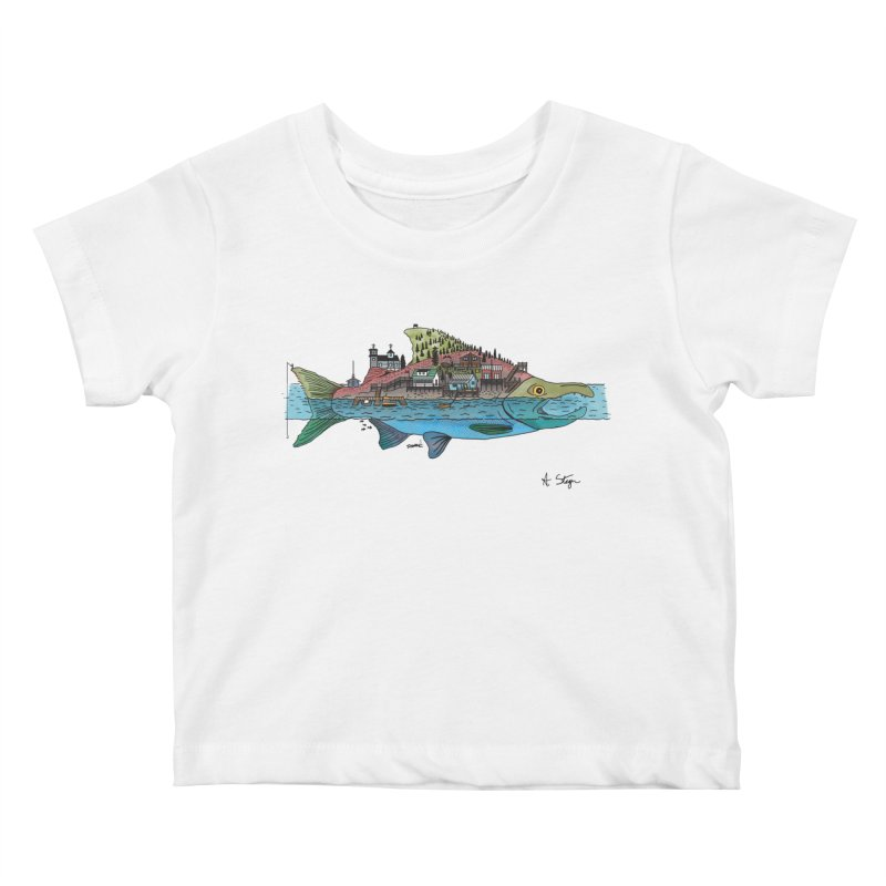 Seldovia Kids Baby T-Shirt by Steger