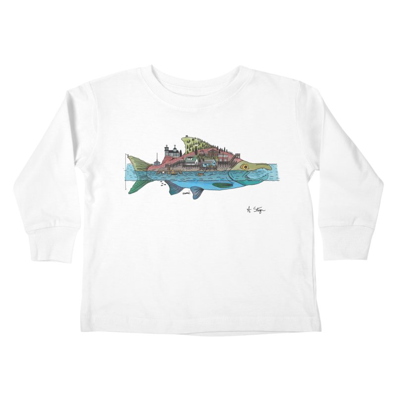 Seldovia Kids Toddler Longsleeve T-Shirt by Steger