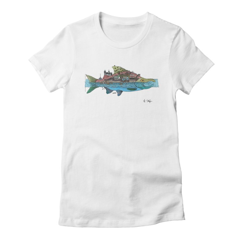 Seldovia Women's Fitted T-Shirt by Steger