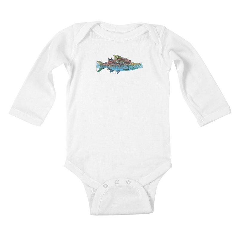 Seldovia Kids Baby Longsleeve Bodysuit by Steger