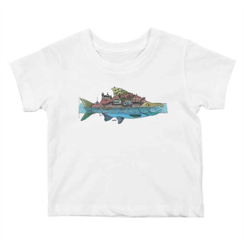 Seldovia Kids Baby T-Shirt by Steger