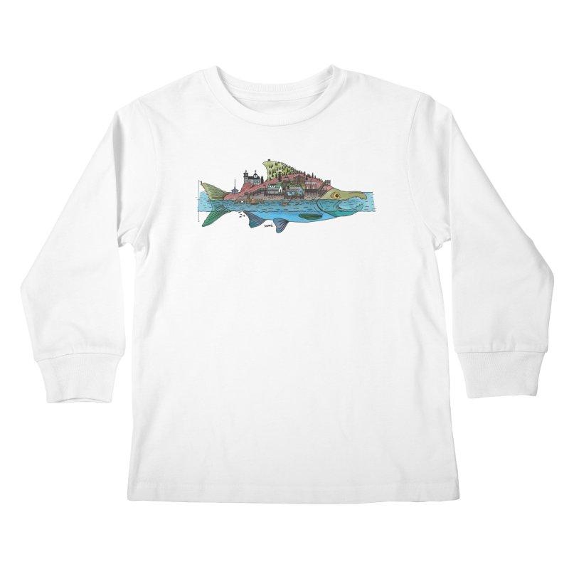 Seldovia Kids Longsleeve T-Shirt by Steger