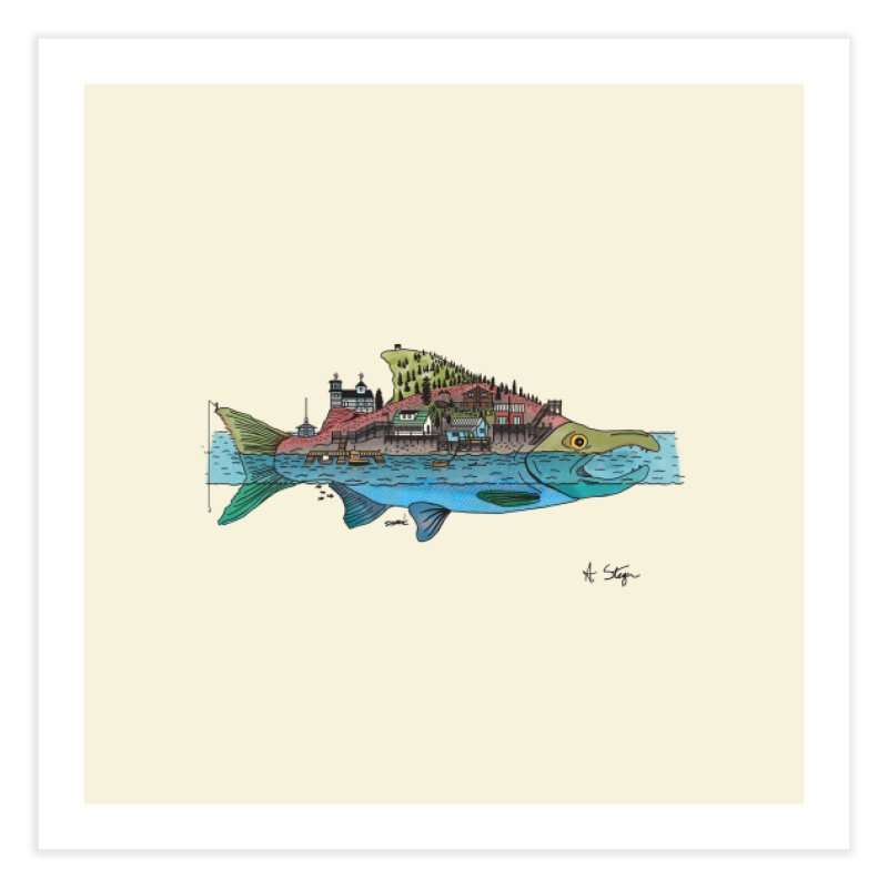 Seldovia Home Fine Art Print by Steger