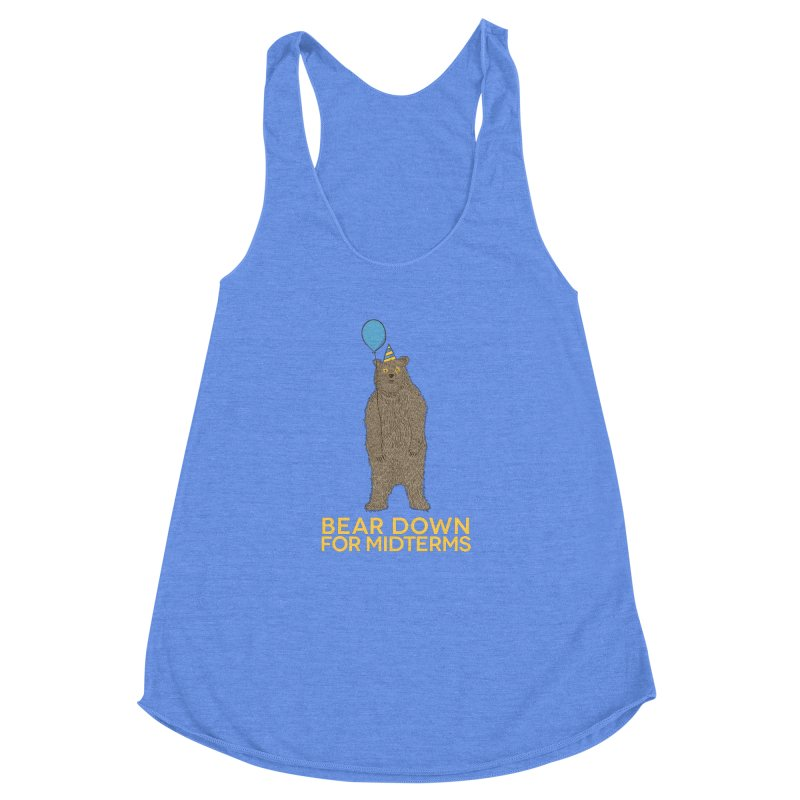 Bear Down for Midterms Women's Racerback Triblend Tank by Steger