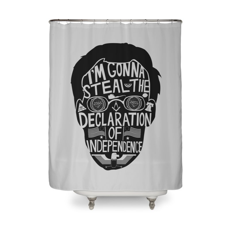 Public Enemy Number One Home Shower Curtain by Steger