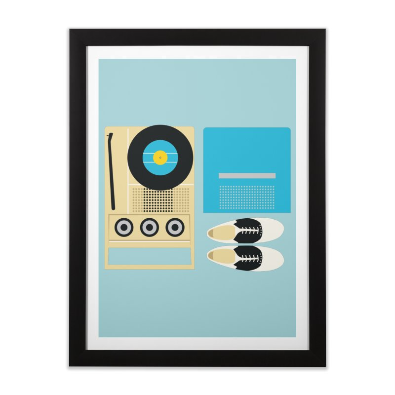 Moonrise Record Home Framed Fine Art Print by Steger