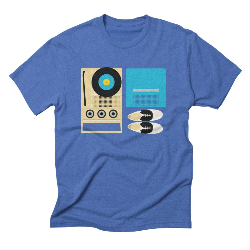 Moonrise Record Men's Triblend T-Shirt by Steger