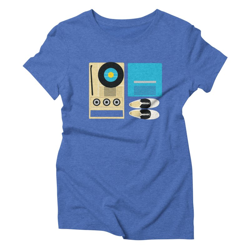 Moonrise Record Women's Triblend T-shirt by Steger