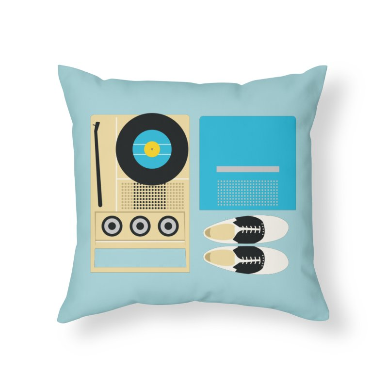 Moonrise Record Home Throw Pillow by Steger