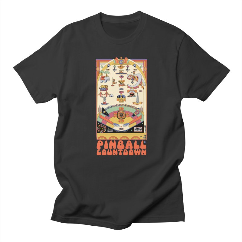 Pinball Countdown in Men's Regular T-Shirt Smoke by Steger