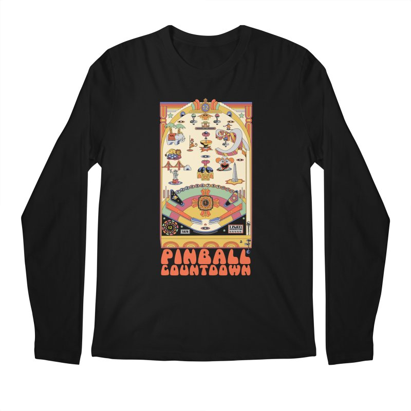 Pinball Countdown Men's Longsleeve T-Shirt by Steger