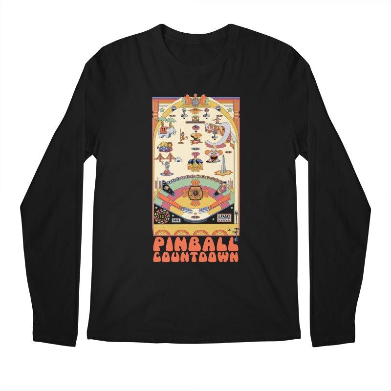 Pinball Countdown Men's Regular Longsleeve T-Shirt by Steger