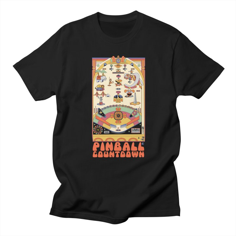 Pinball Countdown Men's T-shirt by Steger