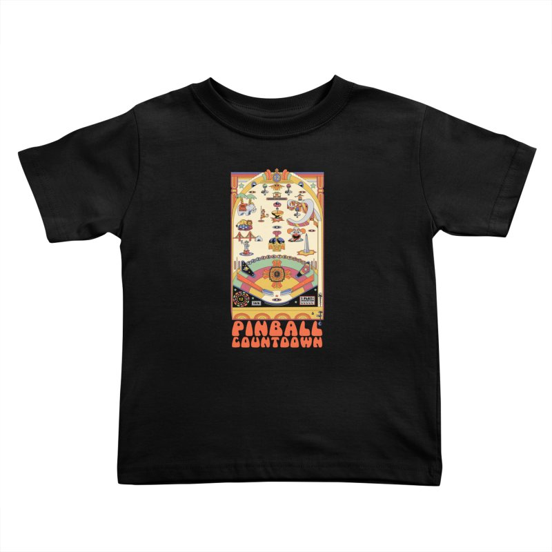 Pinball Countdown Kids Toddler T-Shirt by Steger