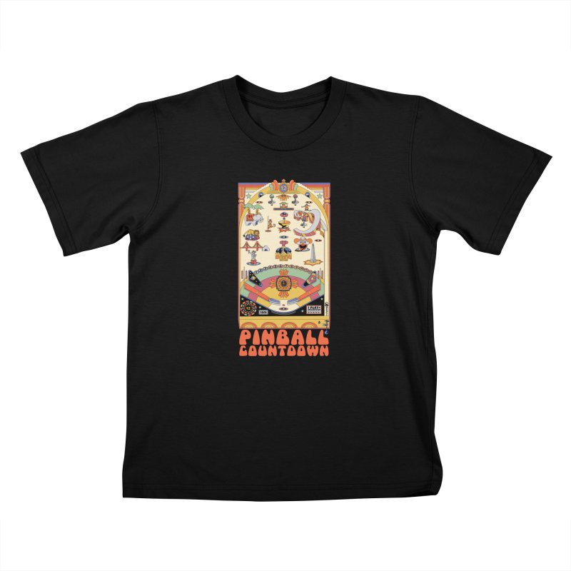 Pinball Countdown Kids T-Shirt by Steger