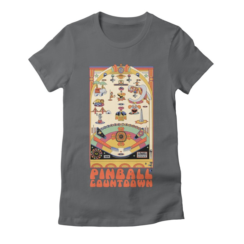 Pinball Countdown Women's Fitted T-Shirt by Steger