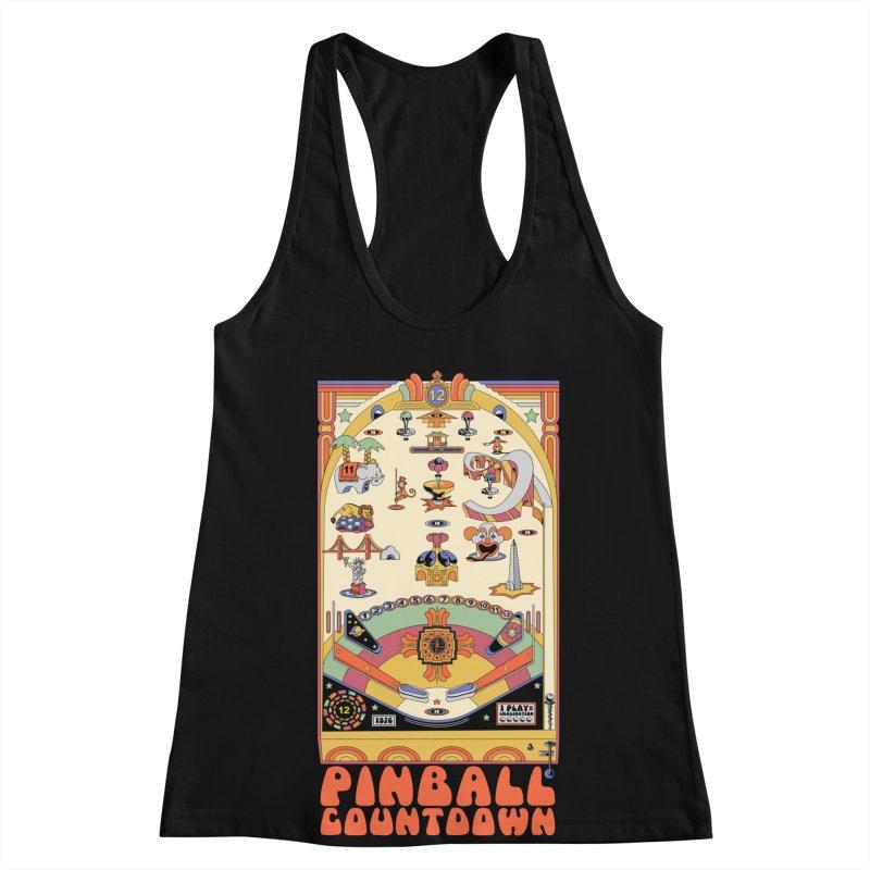 Pinball Countdown Women's Racerback Tank by Steger