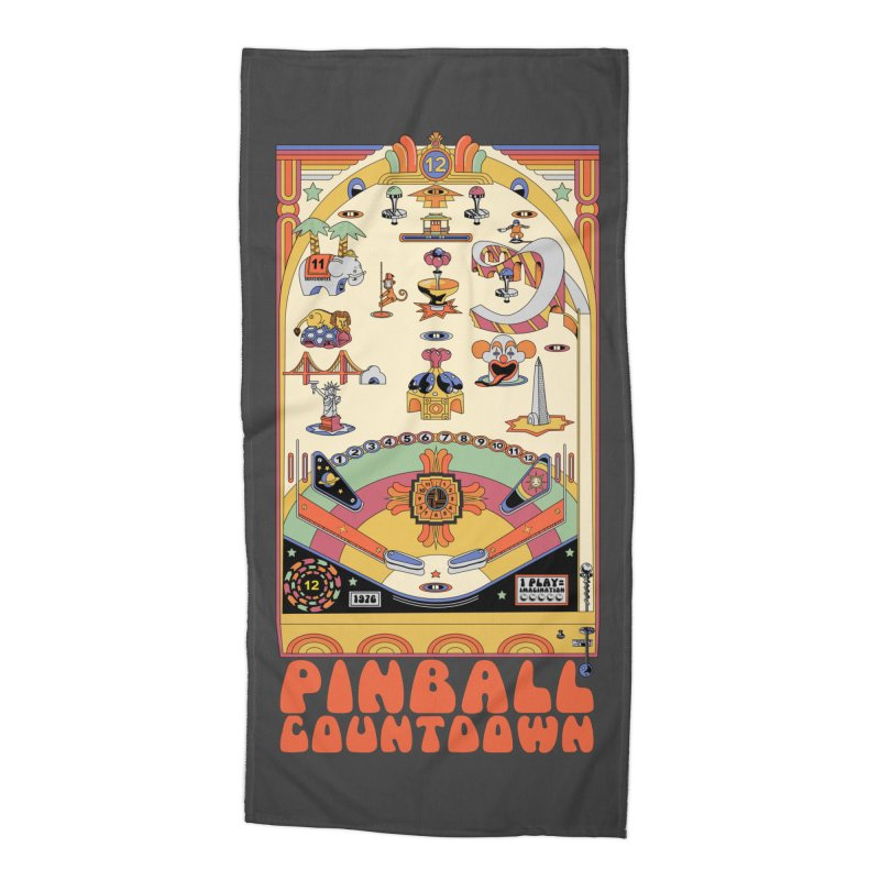 Pinball Countdown Accessories Beach Towel by Steger