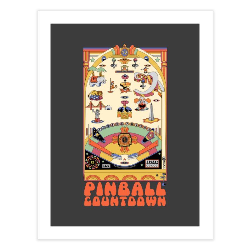 Pinball Countdown Home Fine Art Print by Steger