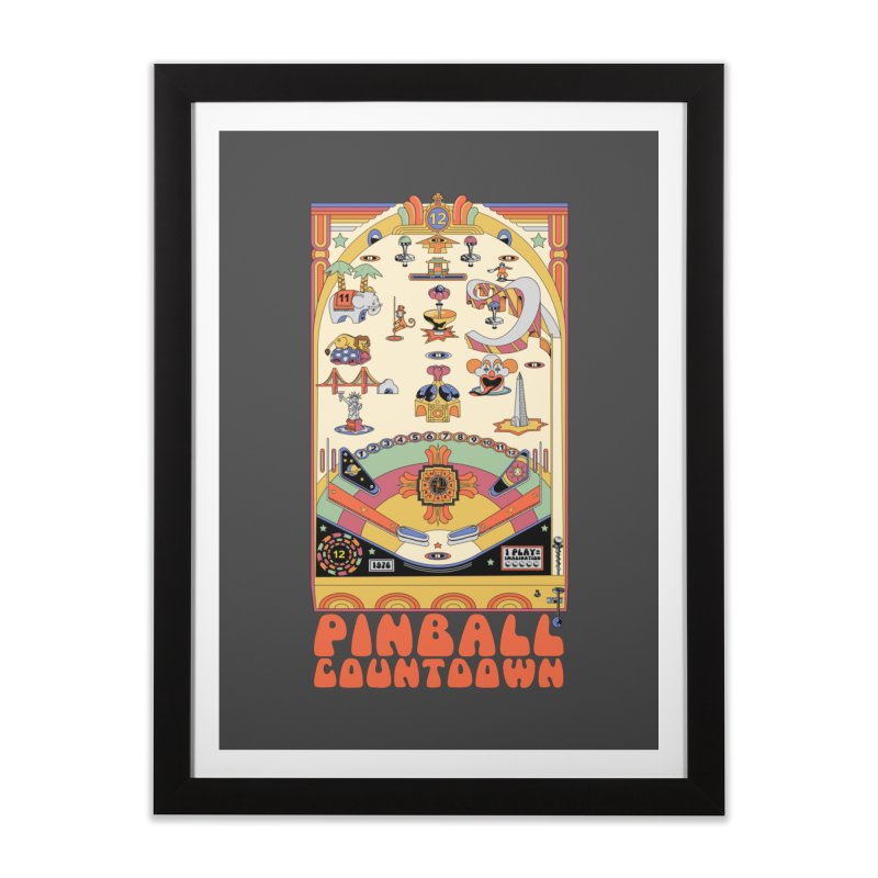 Pinball Countdown Home Framed Fine Art Print by Steger