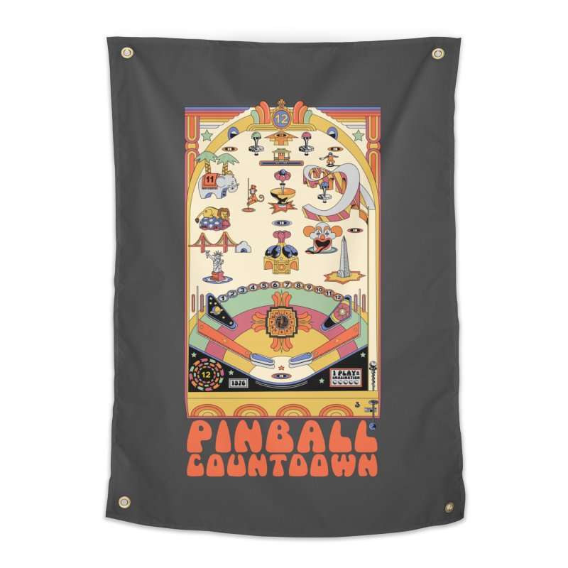 Pinball Countdown Home Tapestry by Steger