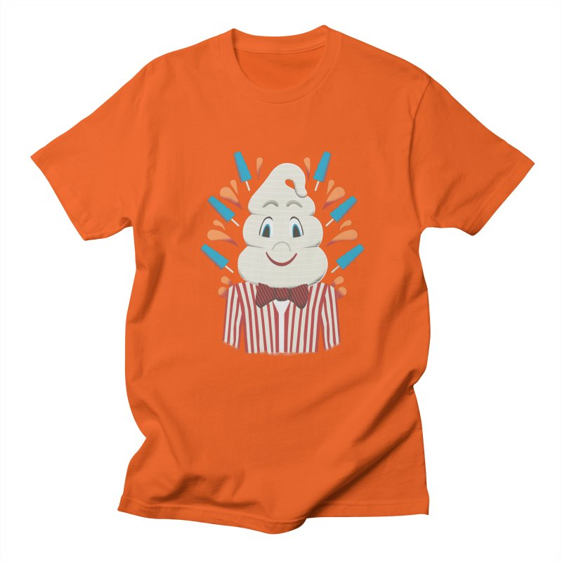 Mr. Tastee in Men's Regular T-Shirt Orange Poppy by Steger