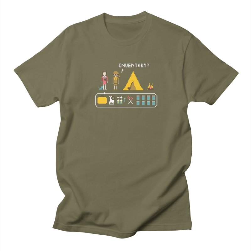 Adventures in New Penzance in Men's Regular T-Shirt Olive by Steger