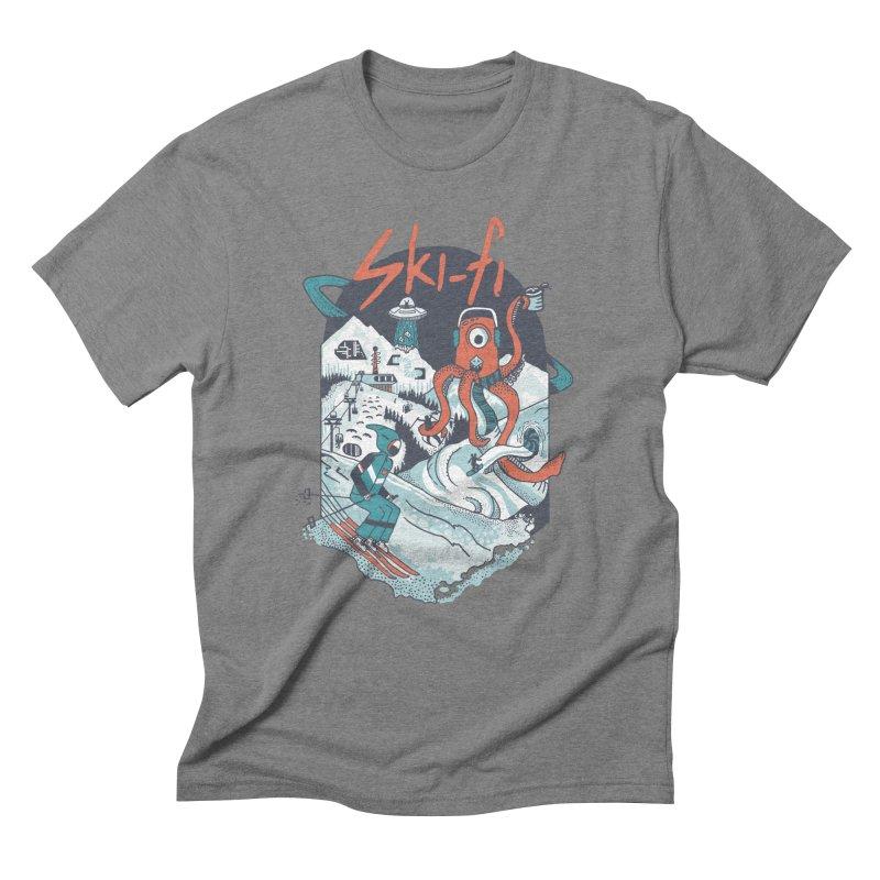 ski fi Men's Triblend T-Shirt by Steger