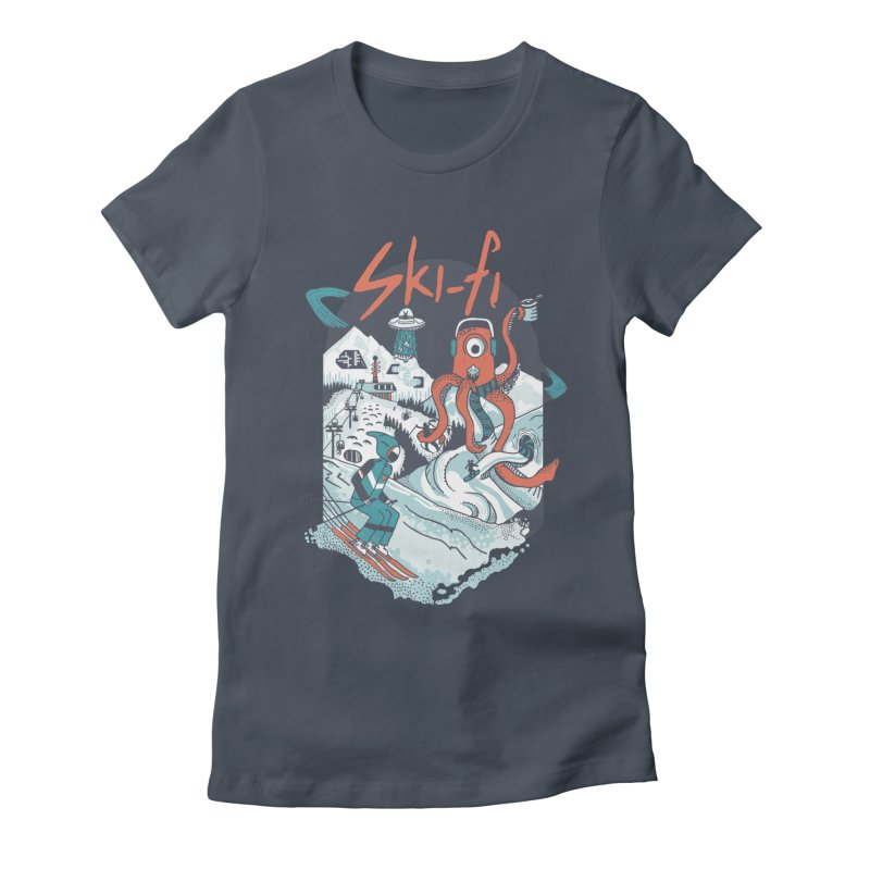 ski fi Women's Fitted T-Shirt by Steger