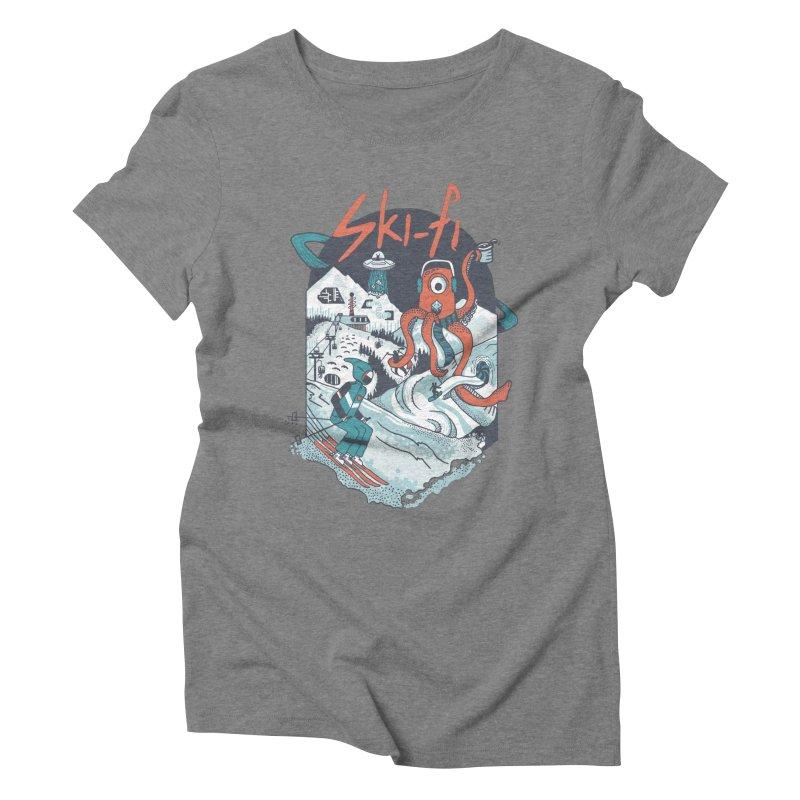 ski fi Women's Triblend T-Shirt by Steger