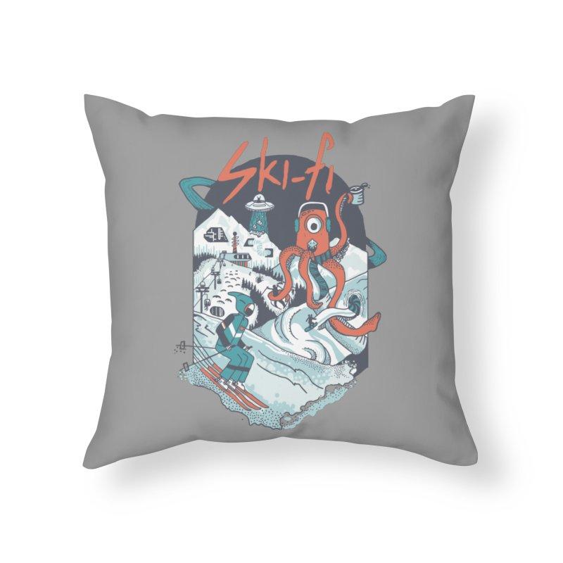 Ski fi Home Throw Pillow by Steger