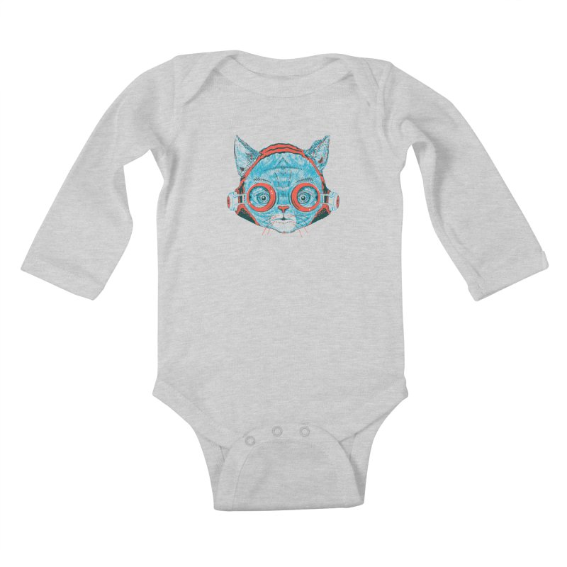 Meowz Kanata Kids Baby Longsleeve Bodysuit by Steger