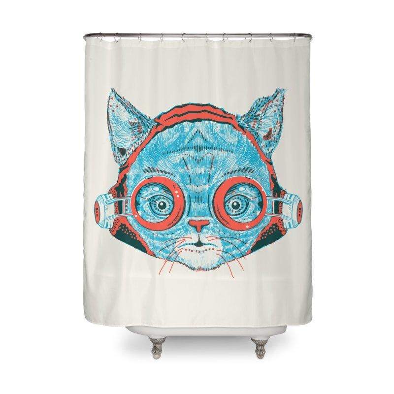 Meowz Kanata Home Shower Curtain by Steger