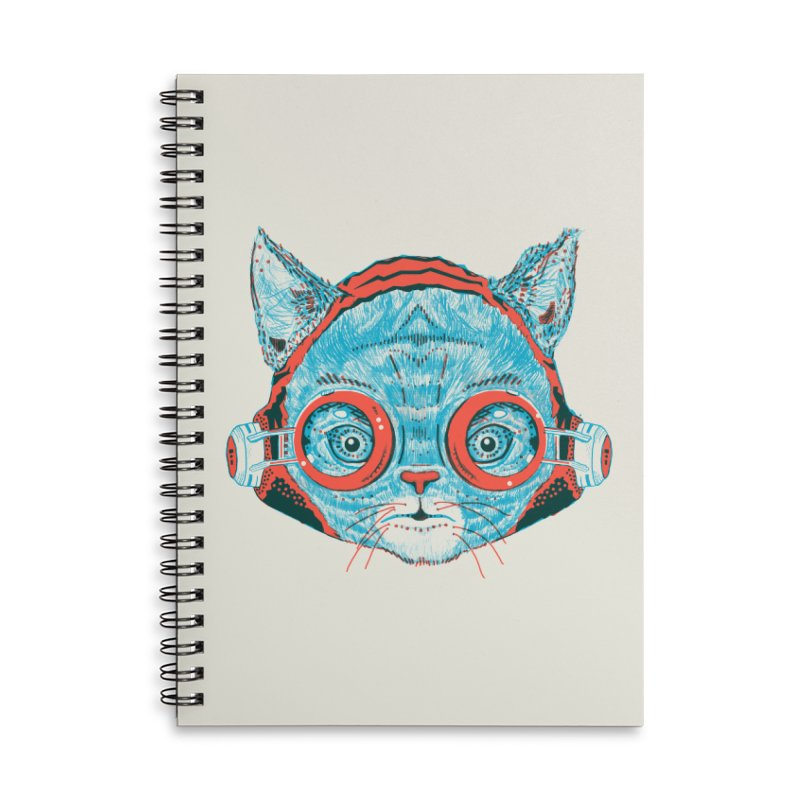 Meowz Kanata Accessories Lined Spiral Notebook by Steger