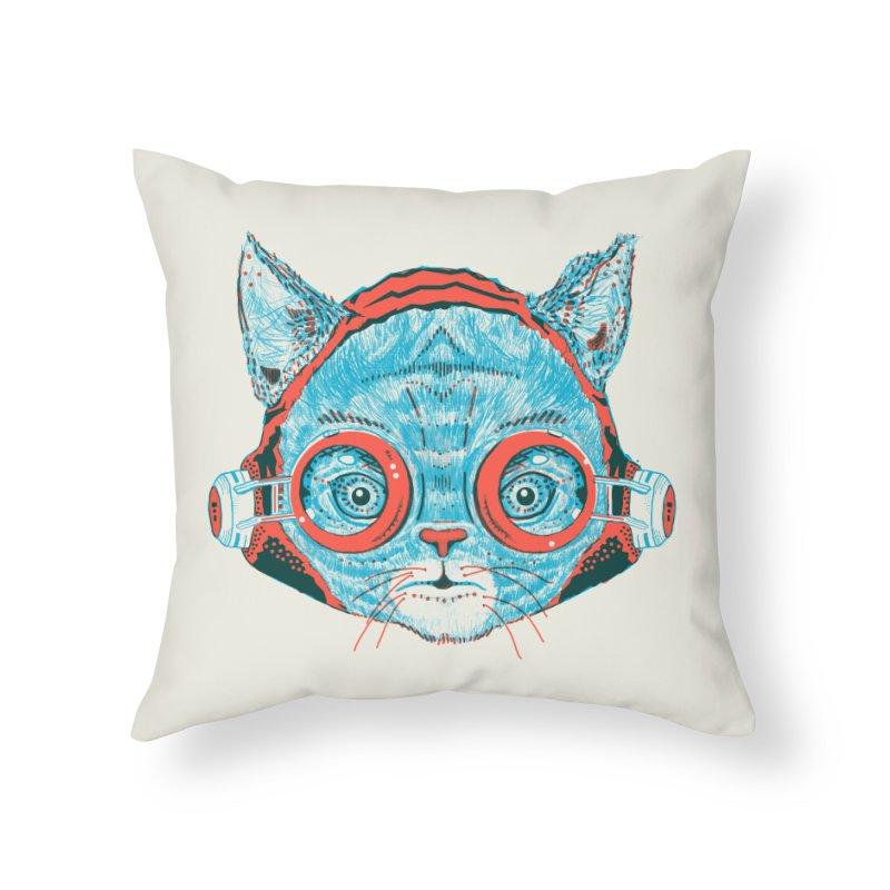 Meowz Kanata Home Throw Pillow by Steger