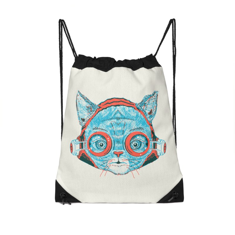 Meowz Kanata Accessories Drawstring Bag Bag by Steger