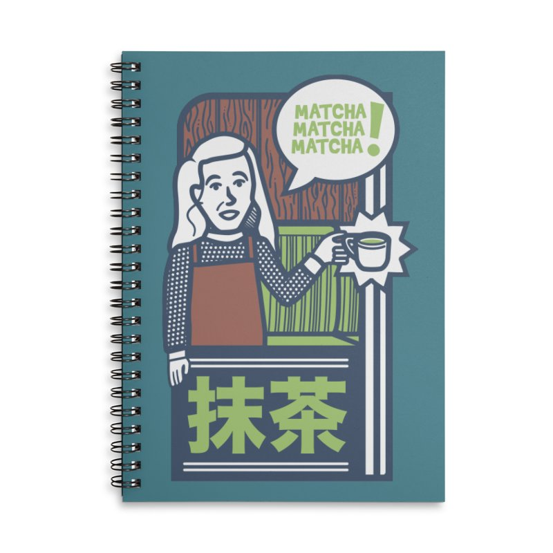 Matcha! Matcha! Matcha! Accessories Lined Spiral Notebook by Steger