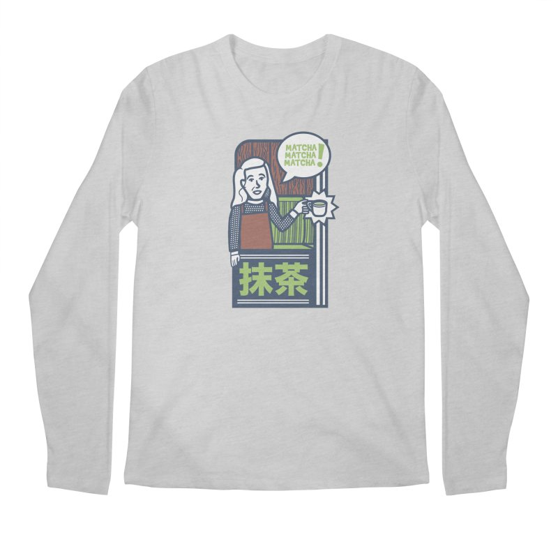 Matcha! Matcha! Matcha! Men's Regular Longsleeve T-Shirt by Steger