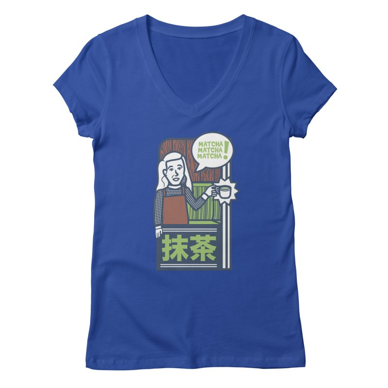 Matcha! Matcha! Matcha! Women's Regular V-Neck by Steger
